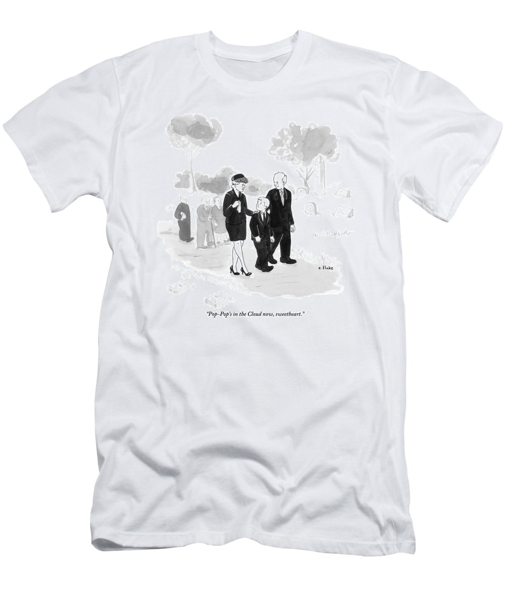 A Husband And Wife At A Funeral Comfort T-Shirt for Sale by Emily Flake