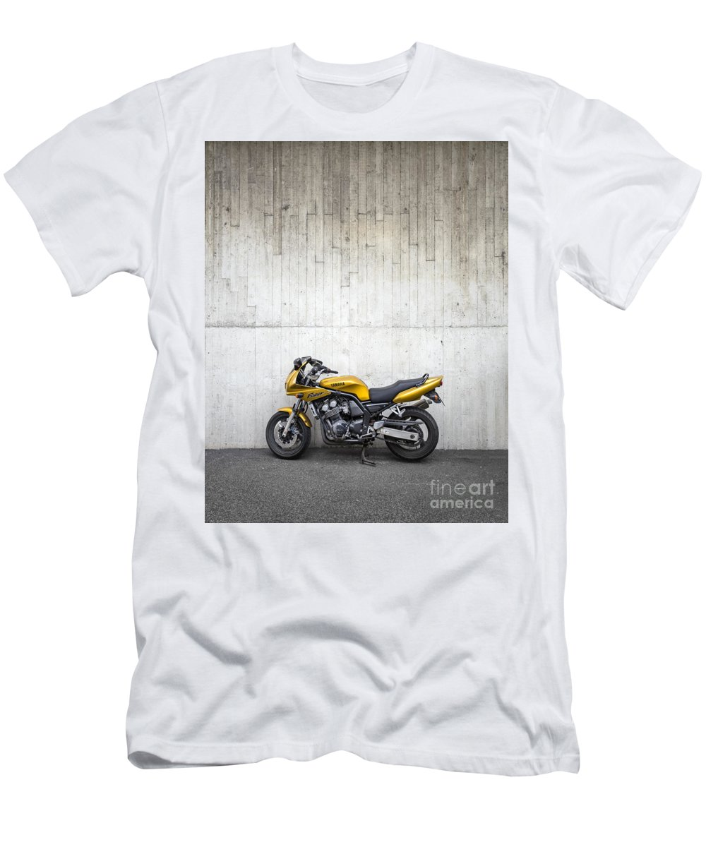Motorcycle Men's T-Shirt (Athletic Fit) featuring the photograph A Need For Speed by Evelina Kremsdorf