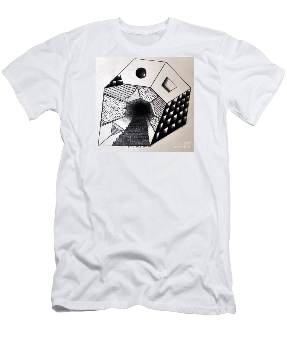 Pencil Drawings Men's T-Shirt (Athletic Fit) featuring the drawing A New Dimension by Verana Stark