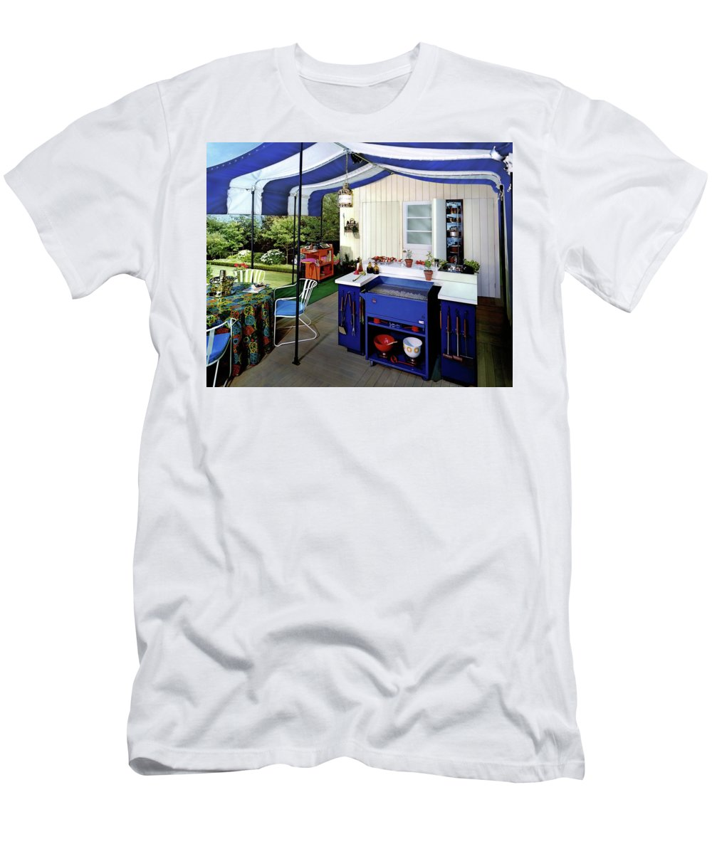 Architecture T-Shirt featuring the photograph A Patio by Pedro E. Guerrero