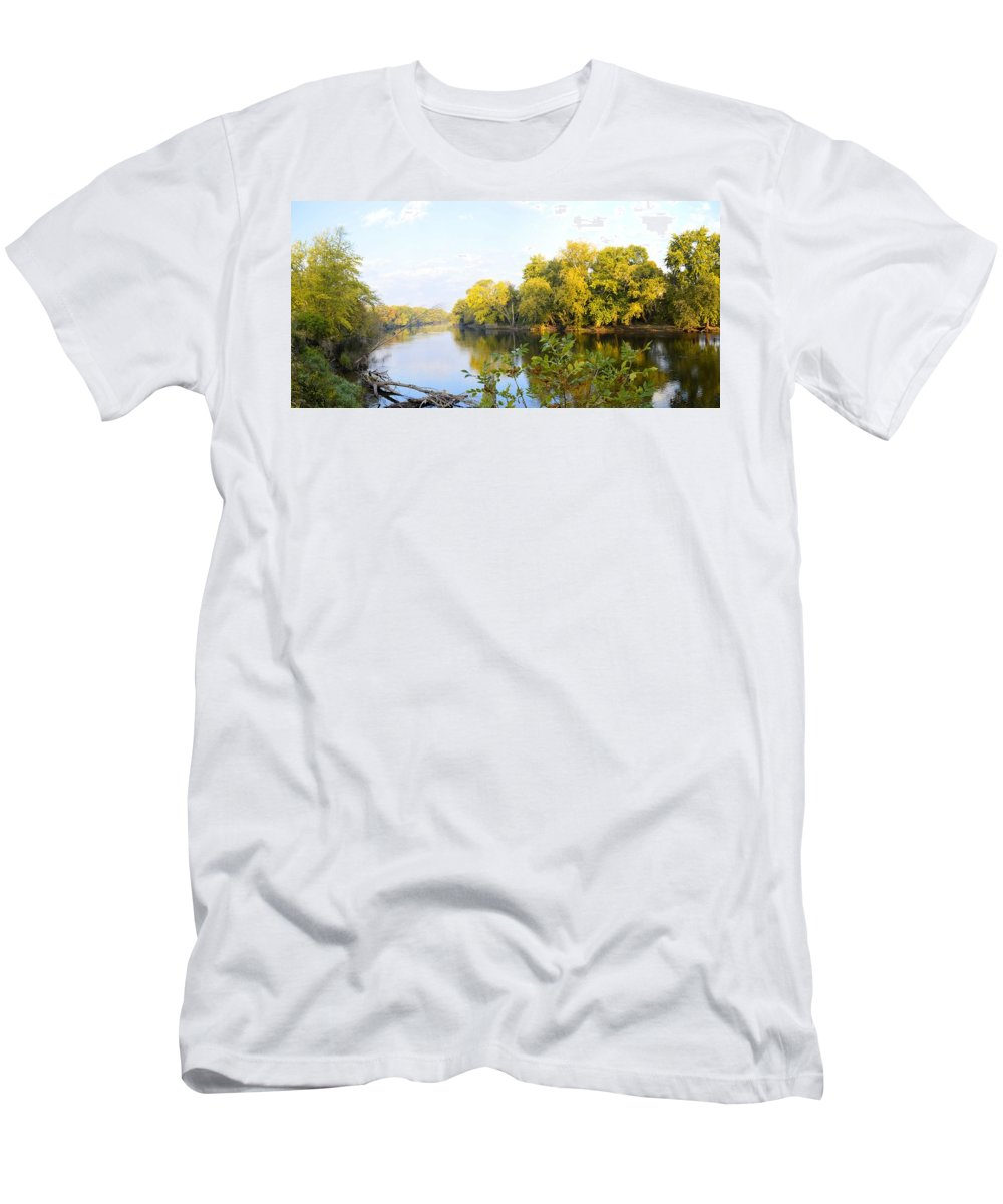Environment Men's T-Shirt (Athletic Fit) featuring the photograph A River Runs Through It by Bonfire Photography