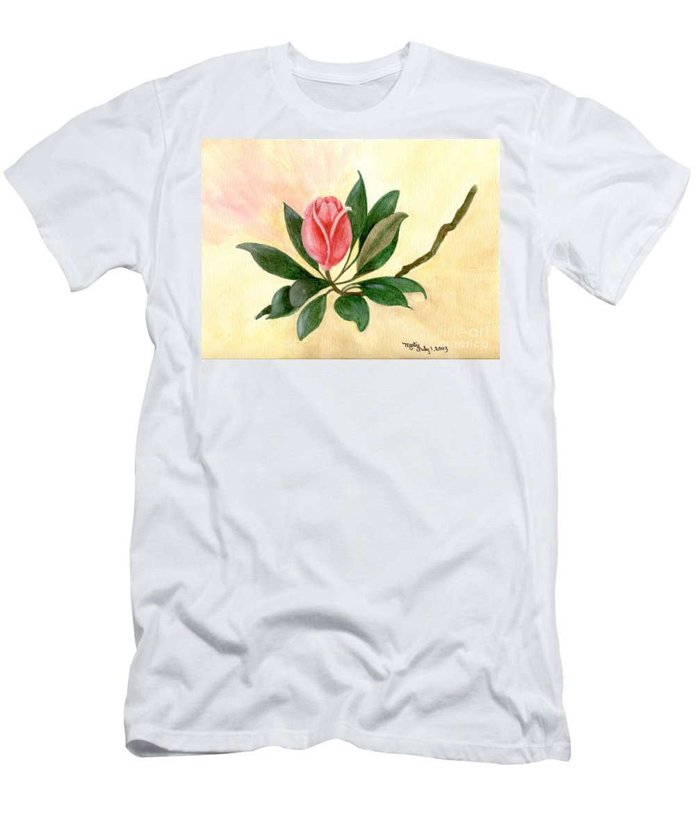 Red Men's T-Shirt (Athletic Fit) featuring the painting A Rose Is A Rose by Flamingo Graphix John Ellis