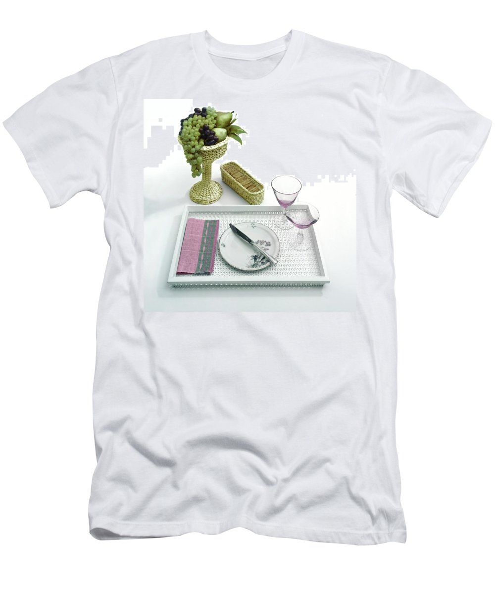 Home T-Shirt featuring the photograph A Summer Table Setting On A Tray by Haanel Cassidy