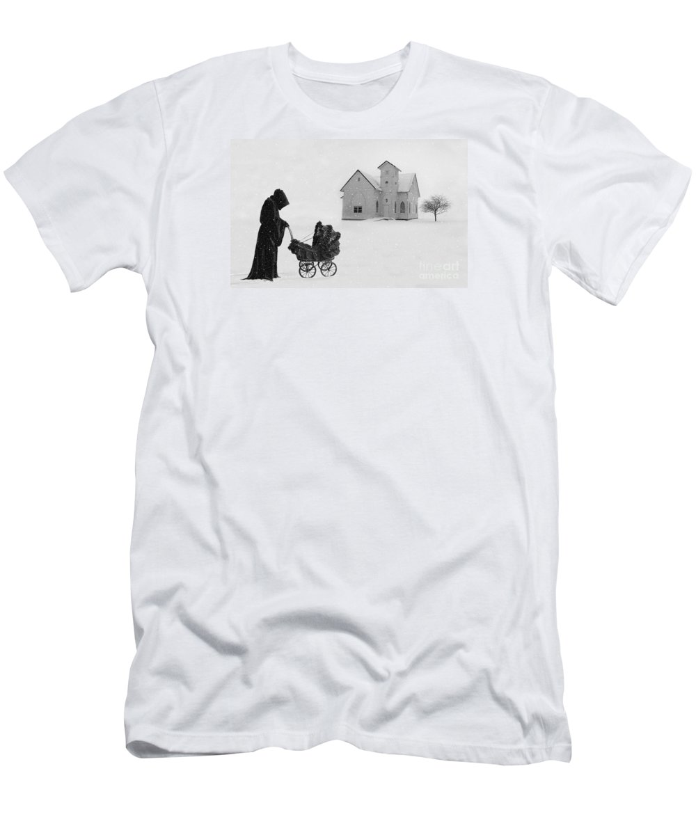Digital Art Men's T-Shirt (Athletic Fit) featuring the digital art A Sunday Stroll by Lynn Jackson