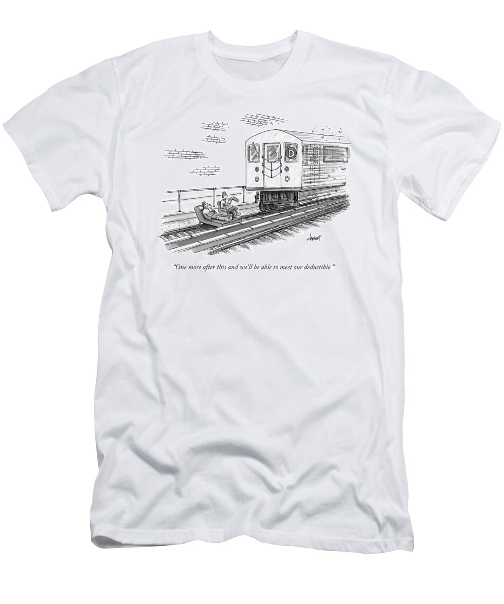 A Therapist Speaks To A Patient On Train Tracks T-Shirt for Sale by Tom  Cheney