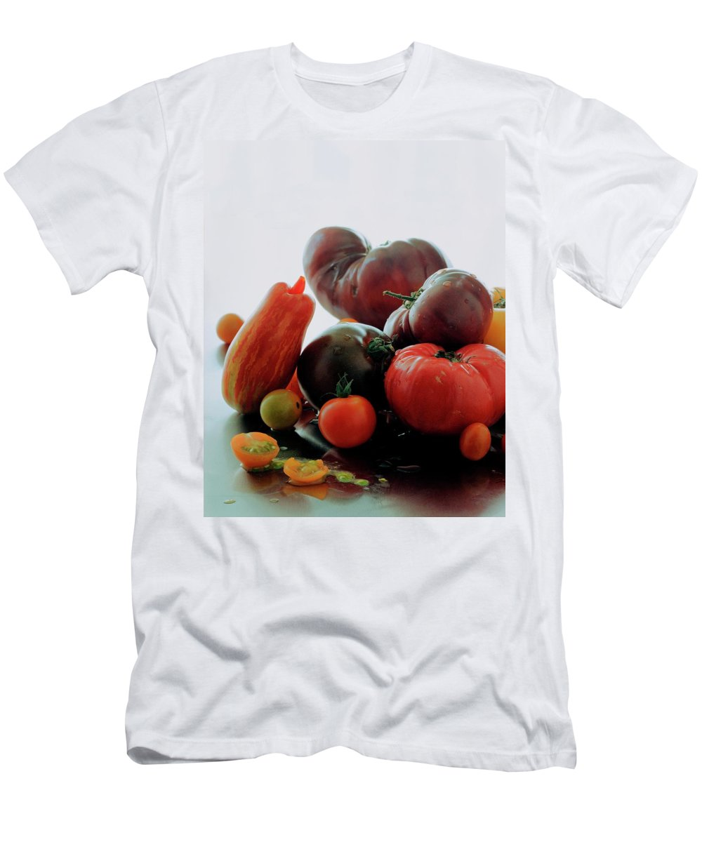 Vegetables Men's T-Shirt (Athletic Fit) featuring the photograph A Variety Of Vegetables by Romulo Yanes