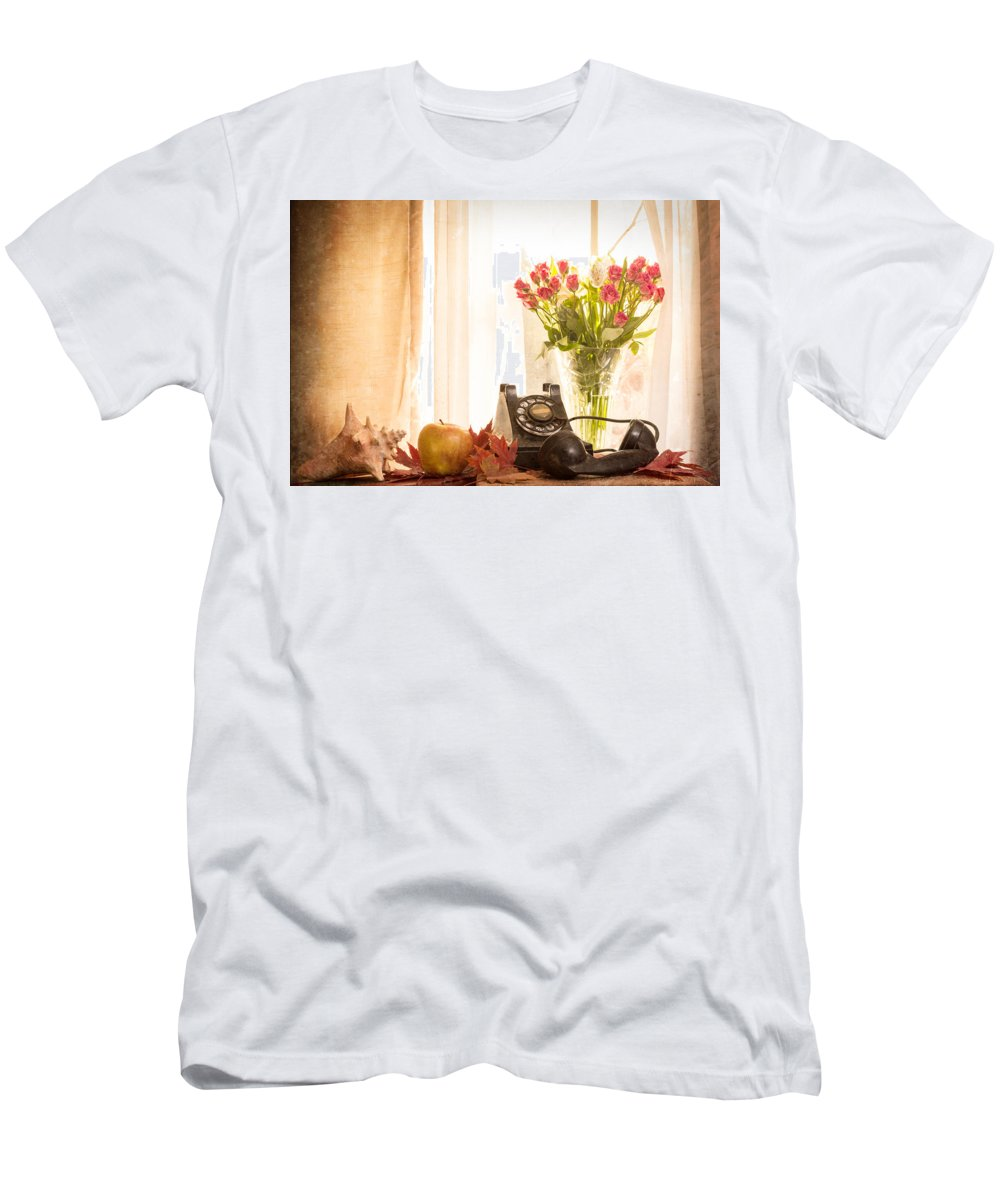 Antique Men's T-Shirt (Athletic Fit) featuring the photograph A Voice From The Past by Jon Woodhams