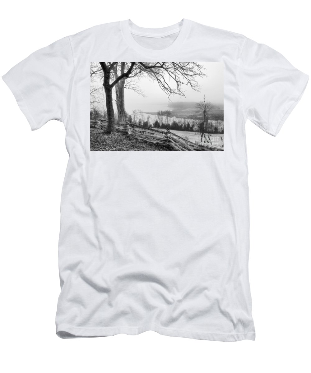 Photography Men's T-Shirt (Athletic Fit) featuring the photograph Above The Creek by Susan Smith