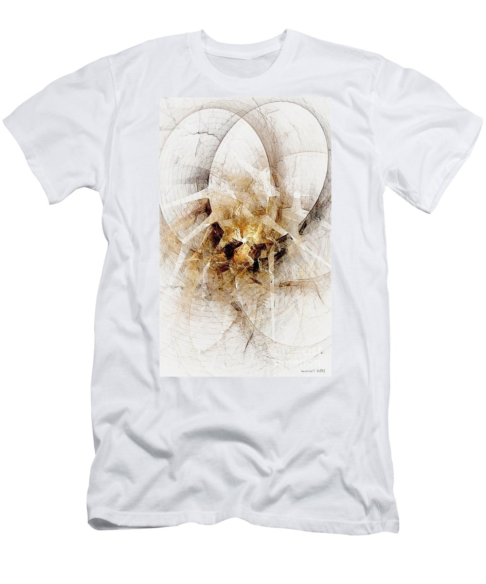 Abstract Men's T-Shirt (Athletic Fit) featuring the digital art Abstract 414-08-13 Marucii by Marek Lutek