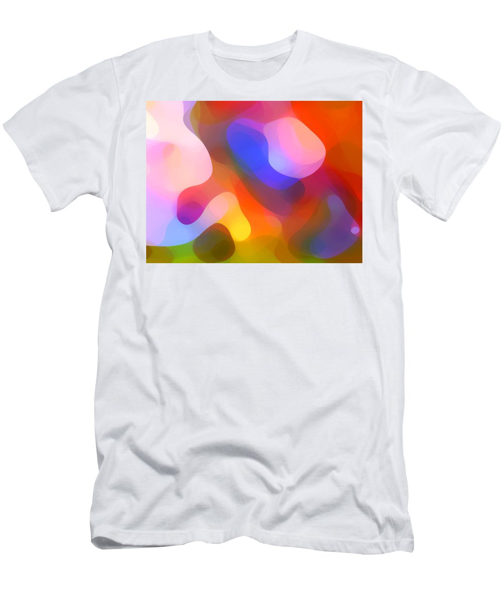 Abstract Art Men's T-Shirt (Athletic Fit) featuring the painting Abstract Dappled Sunlight by Amy Vangsgard