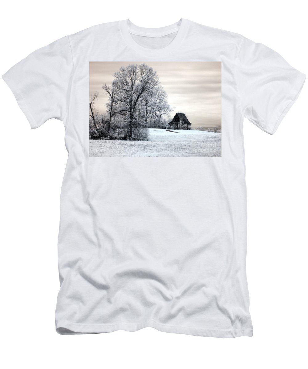 Ir Men's T-Shirt (Athletic Fit) featuring the photograph Across The Field by Claudia Kuhn