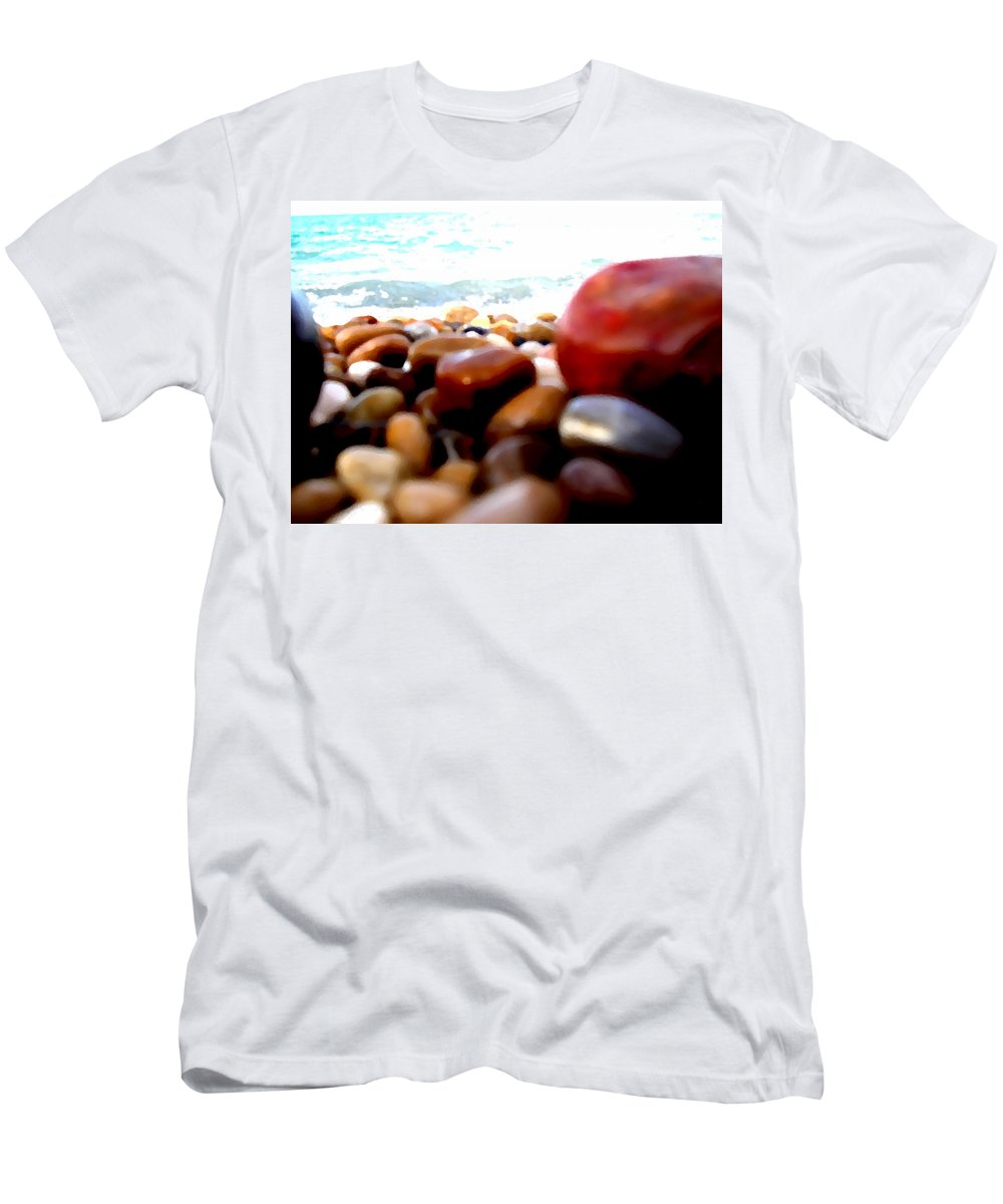 Stones Men's T-Shirt (Athletic Fit) featuring the photograph Adriatico Preistorico 2 by Marcello Cicchini
