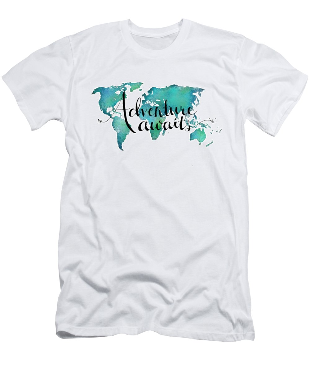 Adventure T Quote Shirt Sale World On Travel For Awaits Map By FTc51ulKJ3