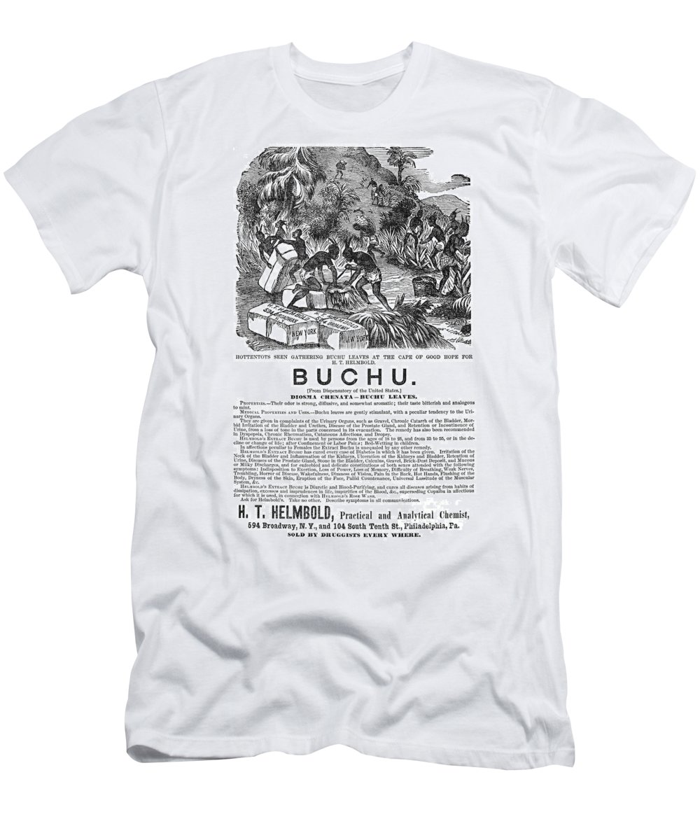 1871 Men's T-Shirt (Athletic Fit) featuring the photograph Advertisement: Buchu, 1871 by Granger