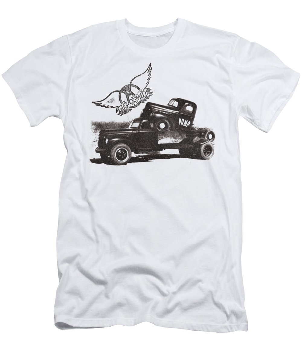 Men's T-Shirt (Athletic Fit) featuring the digital art Aerosmith - Pump by Brand A