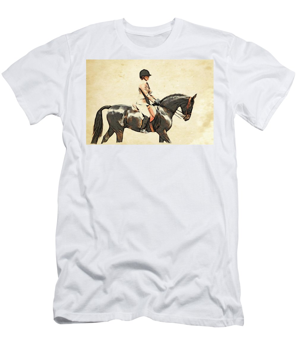 Horse Men's T-Shirt (Athletic Fit) featuring the photograph All Turned Out by Alice Gipson
