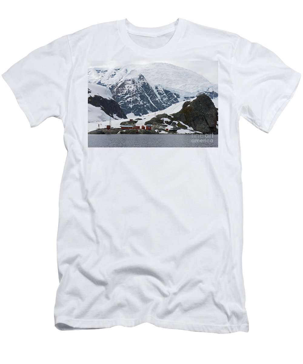 Festblues Men's T-Shirt (Athletic Fit) featuring the photograph Almirante Brown... by Nina Stavlund