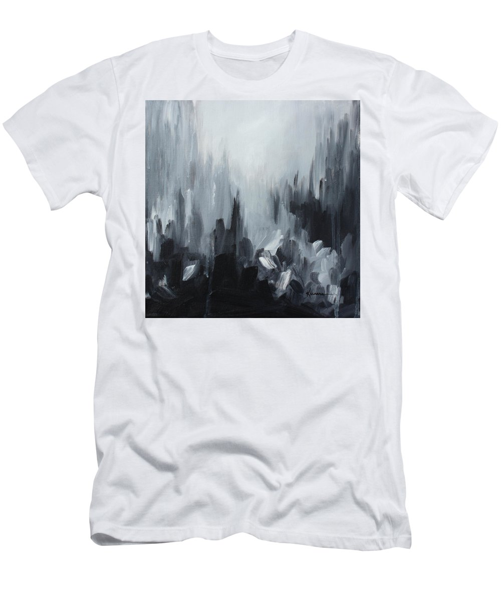 Black Men's T-Shirt (Athletic Fit) featuring the painting Almost There by Kume Bryant