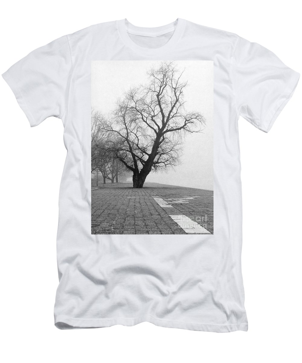 Day Men's T-Shirt (Athletic Fit) featuring the photograph Alone And Lonely by Zoran Berdjan