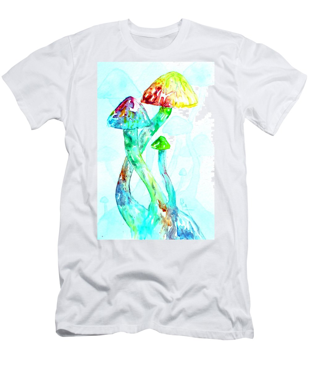 Altered Visions Men's T-Shirt (Athletic Fit) featuring the painting Altered Visions I by Beverley Harper Tinsley