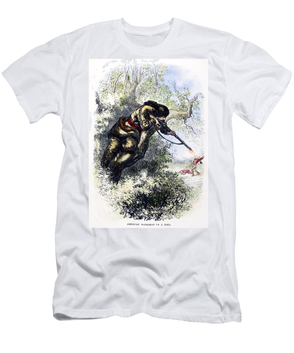 1780s Men's T-Shirt (Athletic Fit) featuring the photograph American Marksman by Granger