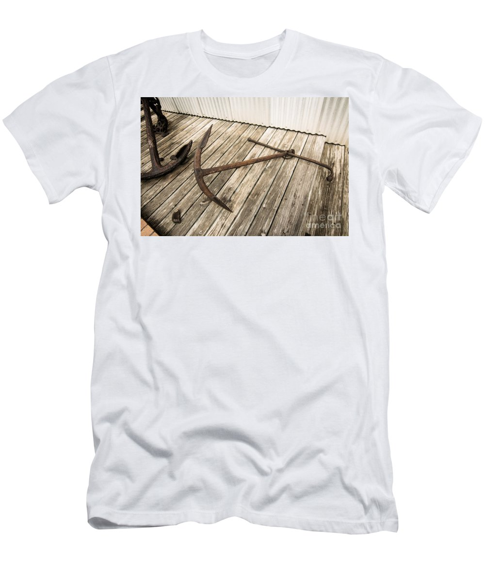 Anchor Men's T-Shirt (Athletic Fit) featuring the photograph Anchor by Robert Frederick
