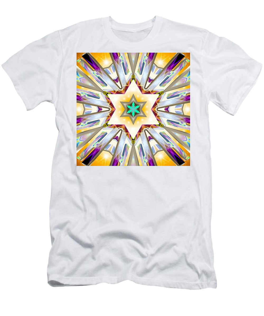 Sacredlife Mandalas Men's T-Shirt (Athletic Fit) featuring the digital art Andromedan Chamaeleon by Derek Gedney
