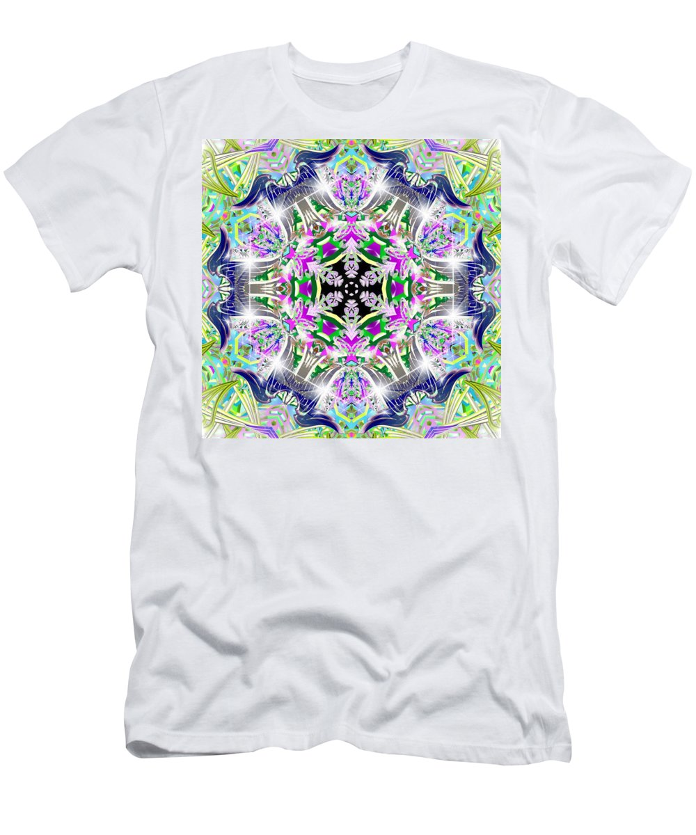 Sacredlife Mandalas Men's T-Shirt (Athletic Fit) featuring the digital art Angelic Dimensions by Derek Gedney