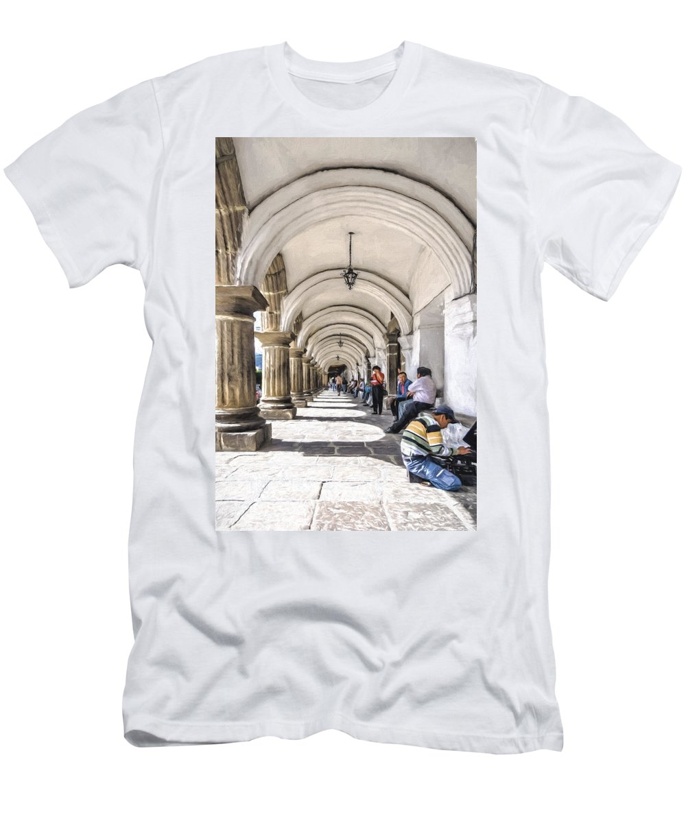 Antigua Men's T-Shirt (Athletic Fit) featuring the photograph Antigua Arches by Maria Coulson