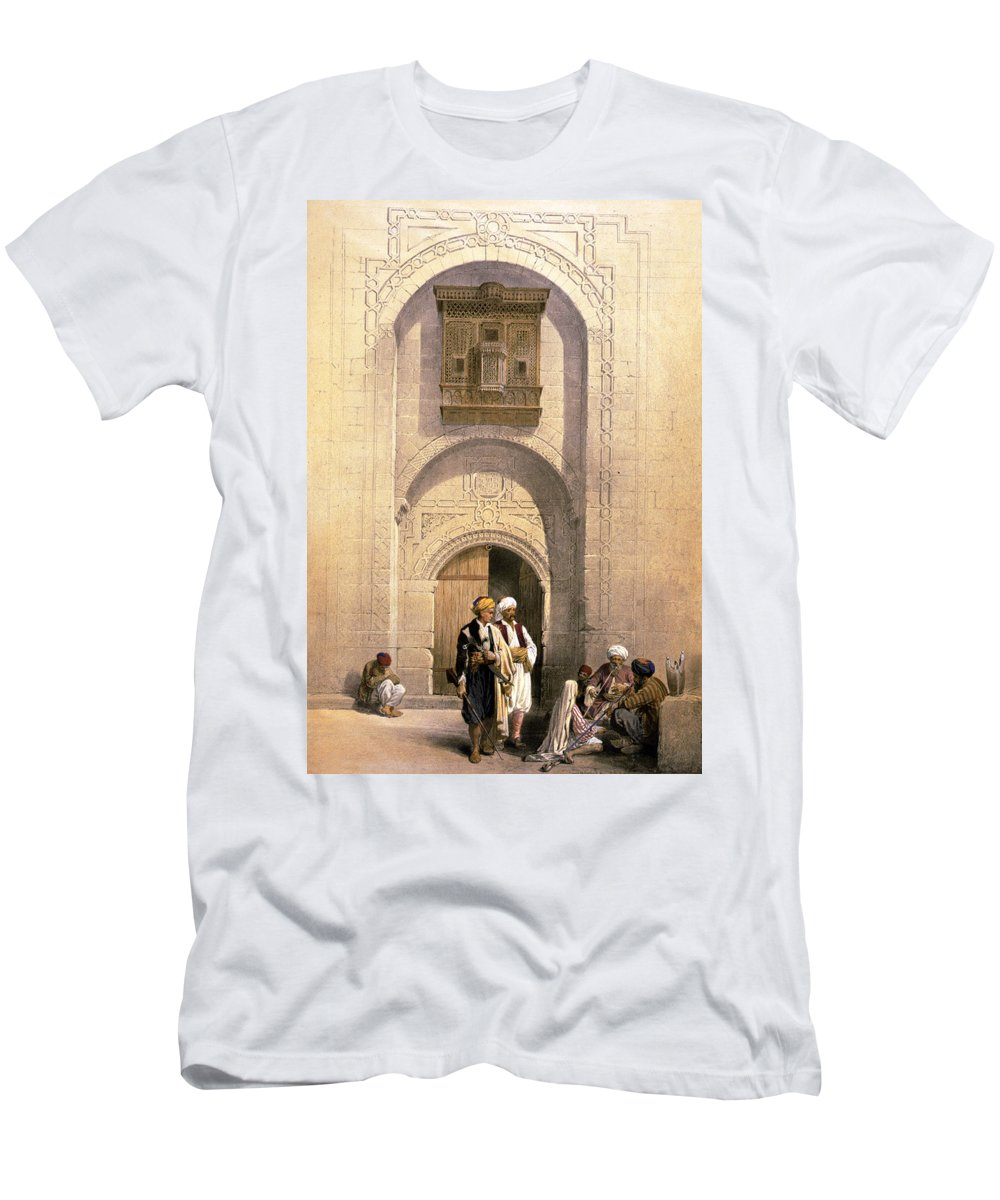 Cairo Men's T-Shirt (Athletic Fit) featuring the photograph Arabesque Cairo by Munir Alawi