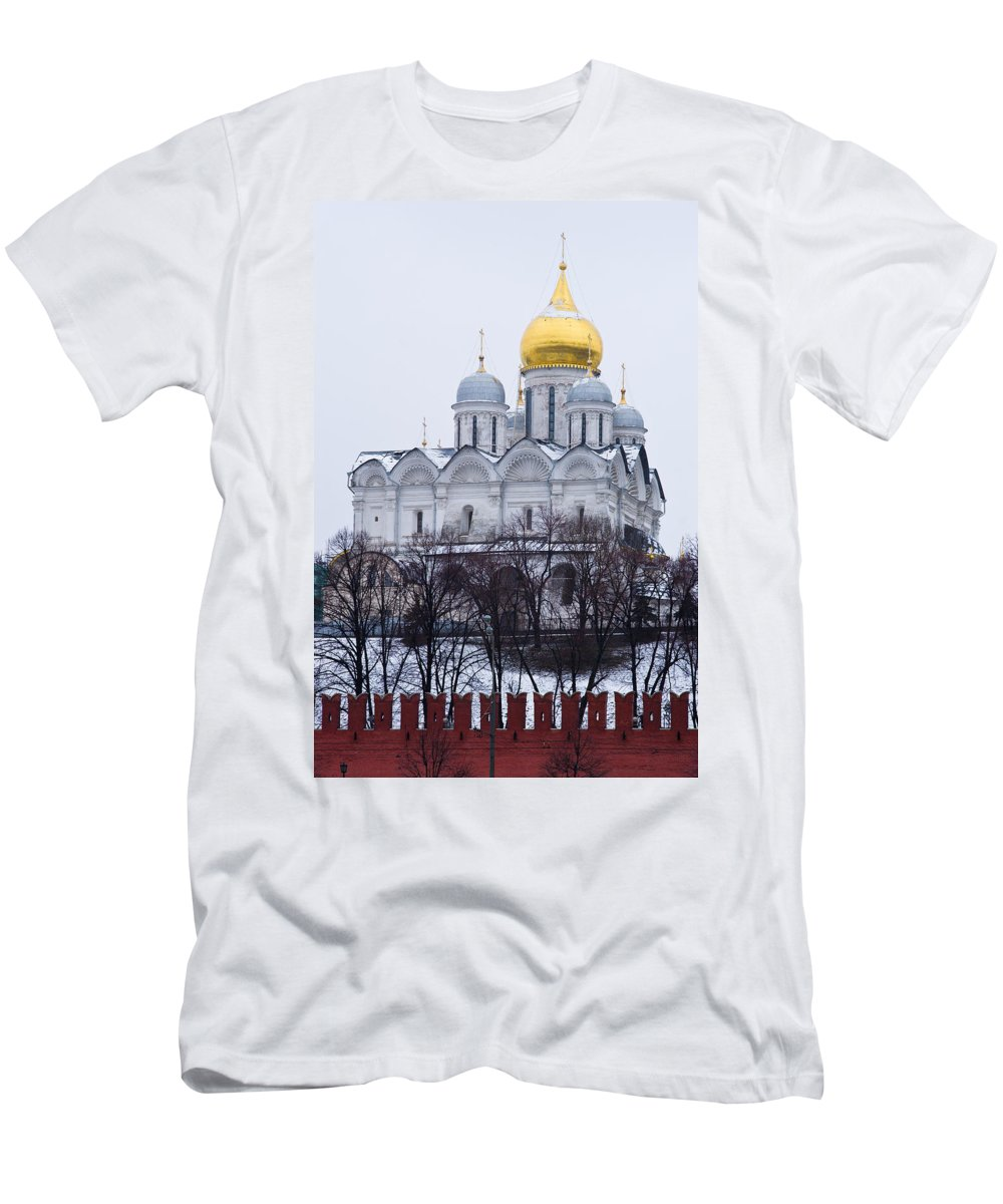 Ancient Men's T-Shirt (Athletic Fit) featuring the photograph Archangel Cathedral Of Moscow Kremlin - Featured 3 by Alexander Senin