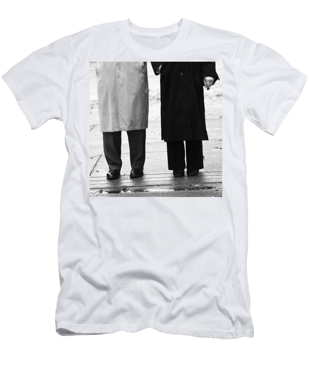 Street Men's T-Shirt (Athletic Fit) featuring the photograph Archie N Edith by The Artist Project