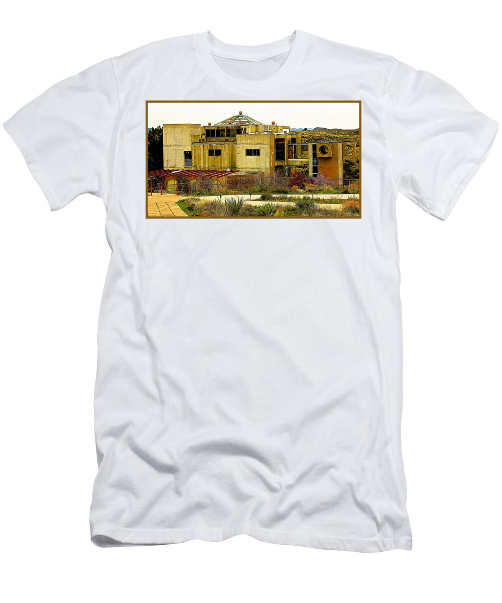 Arcosanti Men's T-Shirt (Athletic Fit) featuring the photograph Arcosanti II by Barbara Zahno