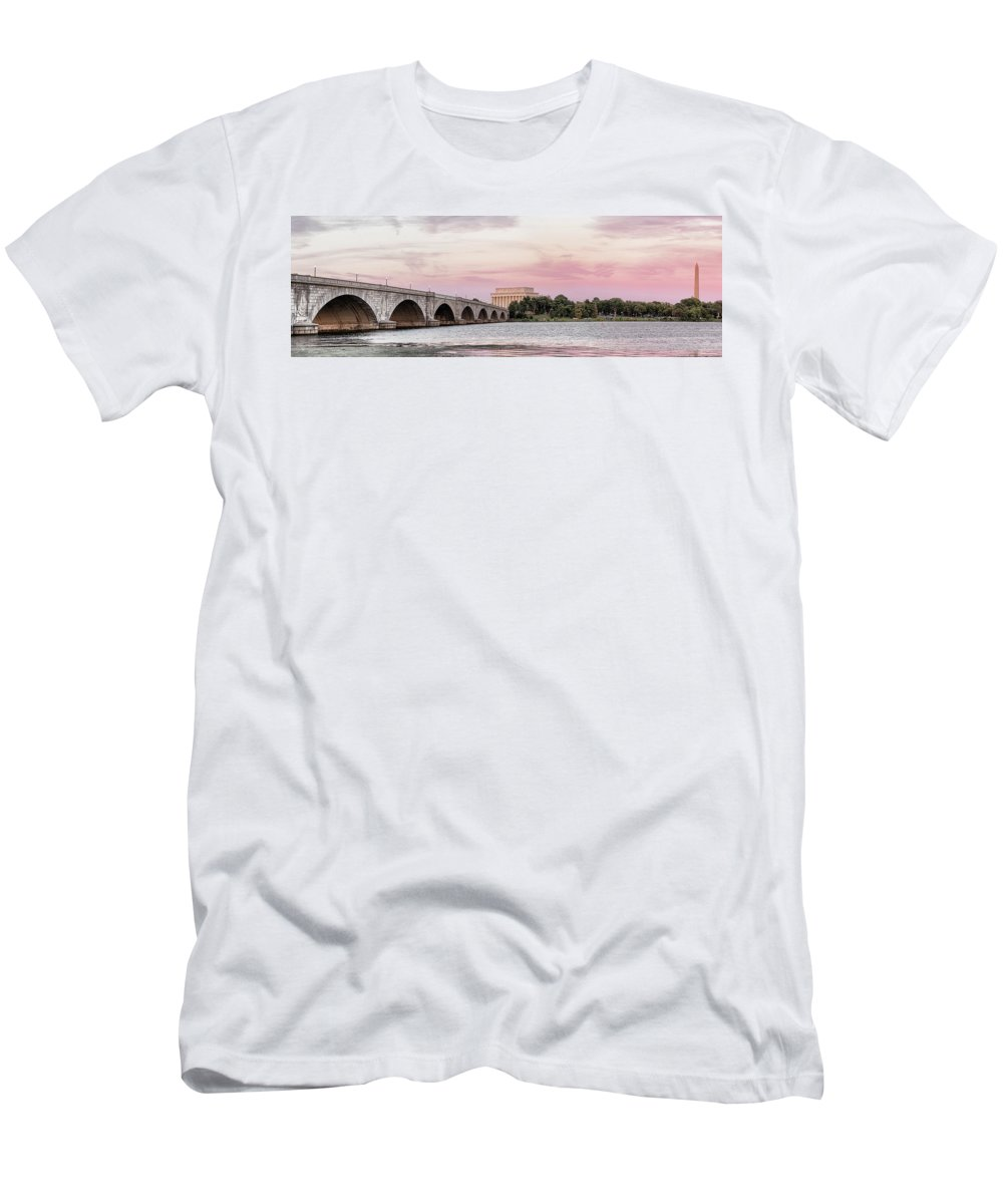 Photography T-Shirt featuring the photograph Arlington Memorial Bridge With Lincoln by Panoramic Images