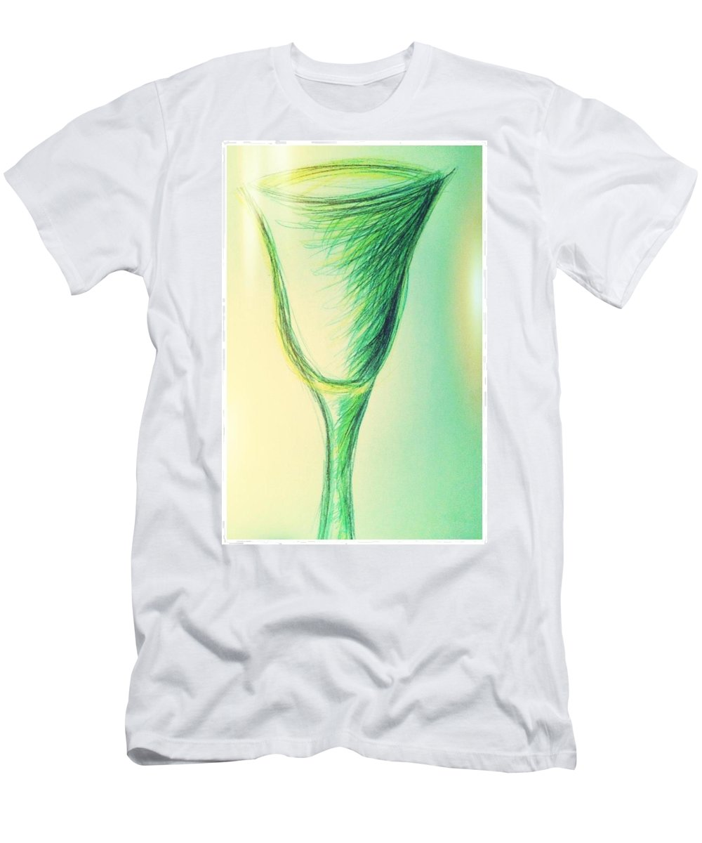 Glass Men's T-Shirt (Athletic Fit) featuring the photograph Art Therapy 186 by Michele Monk