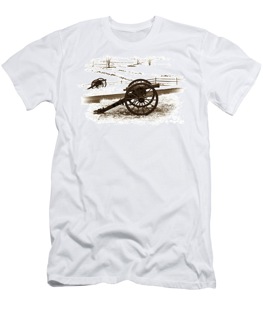 Infrared Men's T-Shirt (Athletic Fit) featuring the photograph Artillery Positions - Toned by Paul W Faust - Impressions of Light