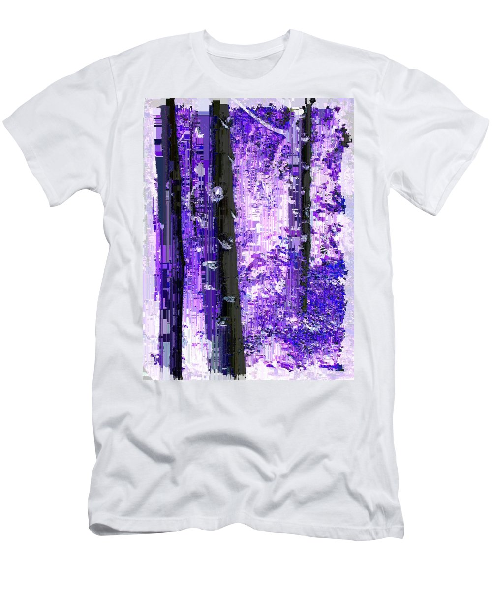 Aspen Men's T-Shirt (Athletic Fit) featuring the digital art Aspen Grove 5 by Tim Allen