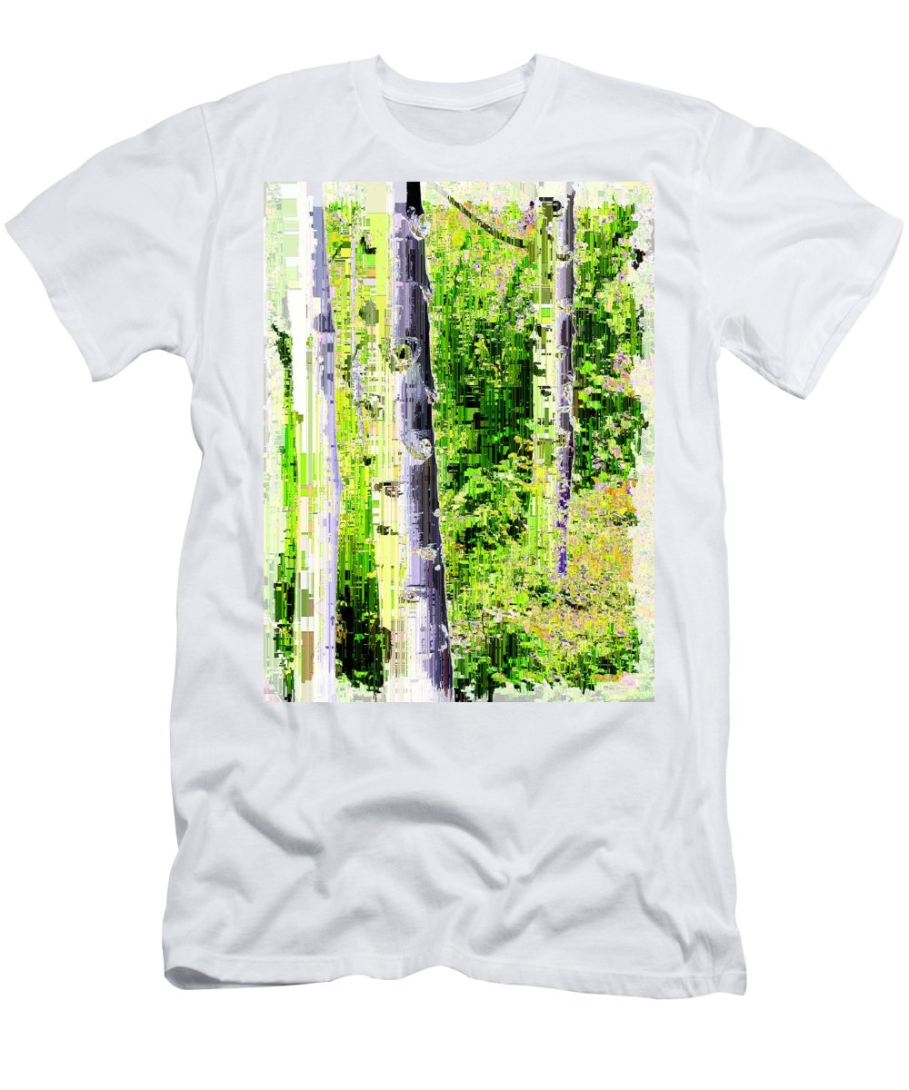 Aspen Men's T-Shirt (Athletic Fit) featuring the digital art Aspen Grove 6 by Tim Allen