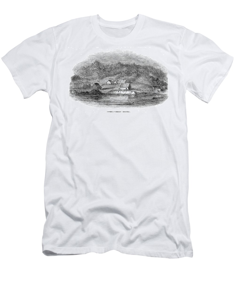1843 Men's T-Shirt (Athletic Fit) featuring the painting Astoria, Oregon by Granger