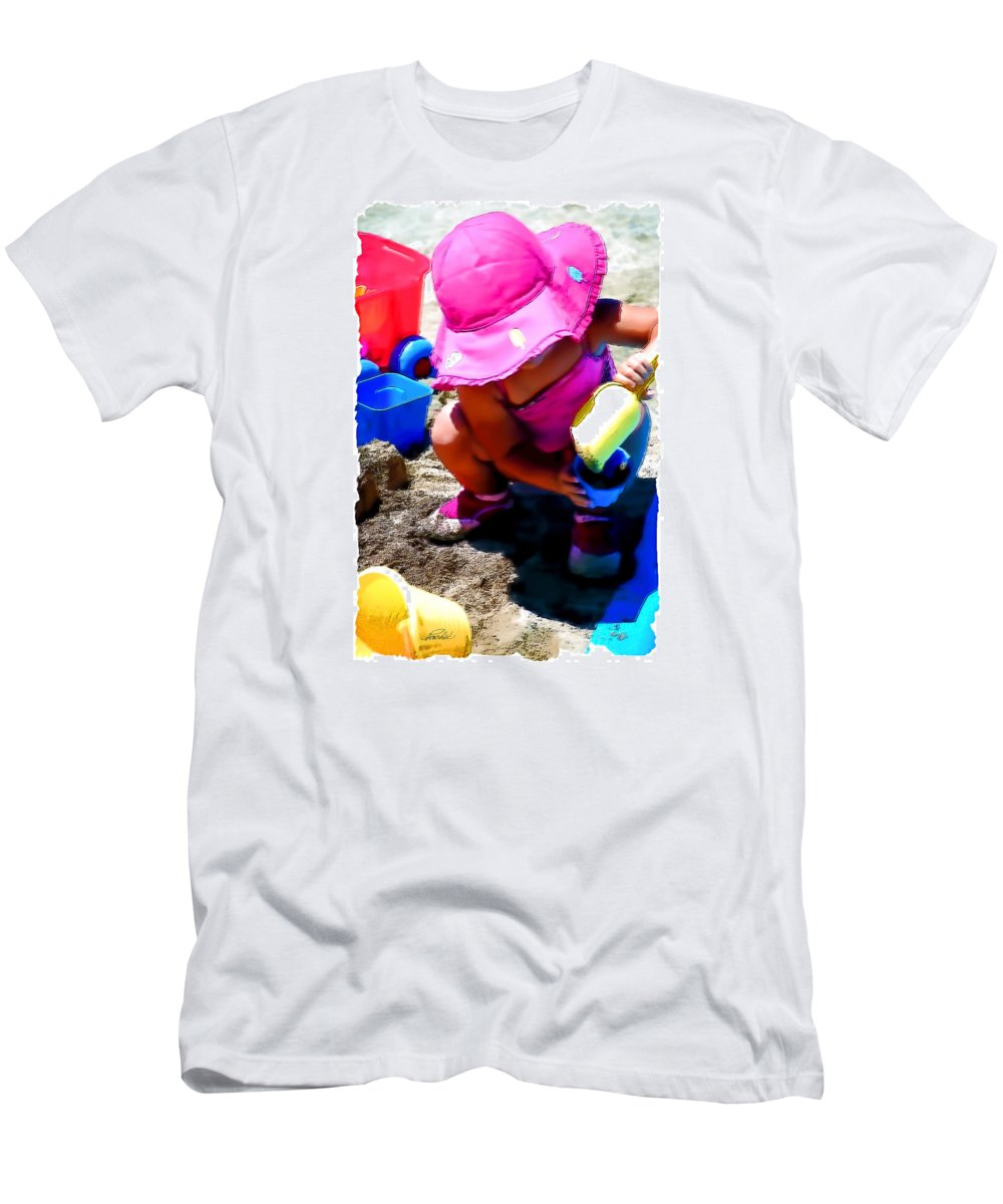 Portrait Men's T-Shirt (Athletic Fit) featuring the digital art At The Beach Summer 2010 by Pachek