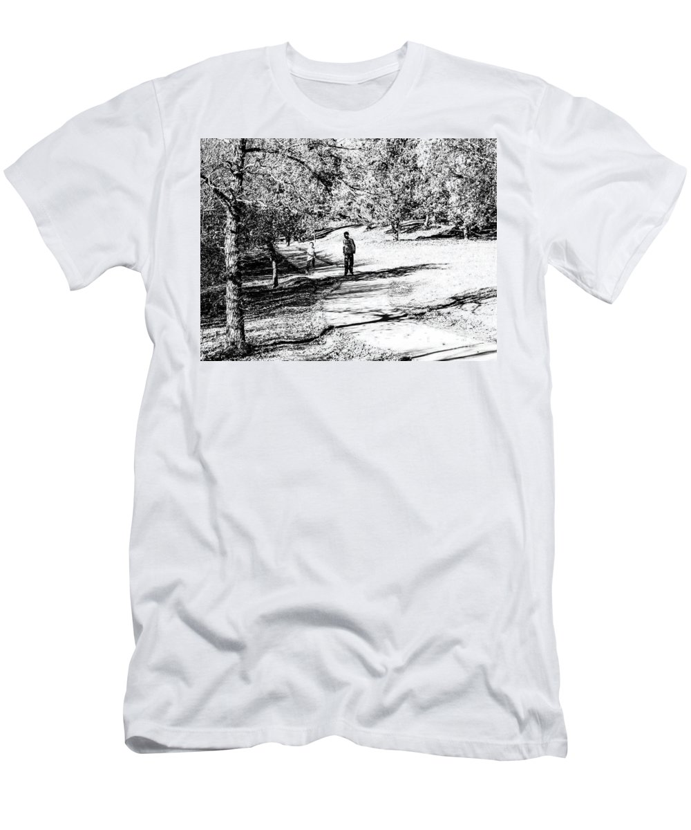 Park Men's T-Shirt (Athletic Fit) featuring the photograph At The Lake-42 by David Fabian