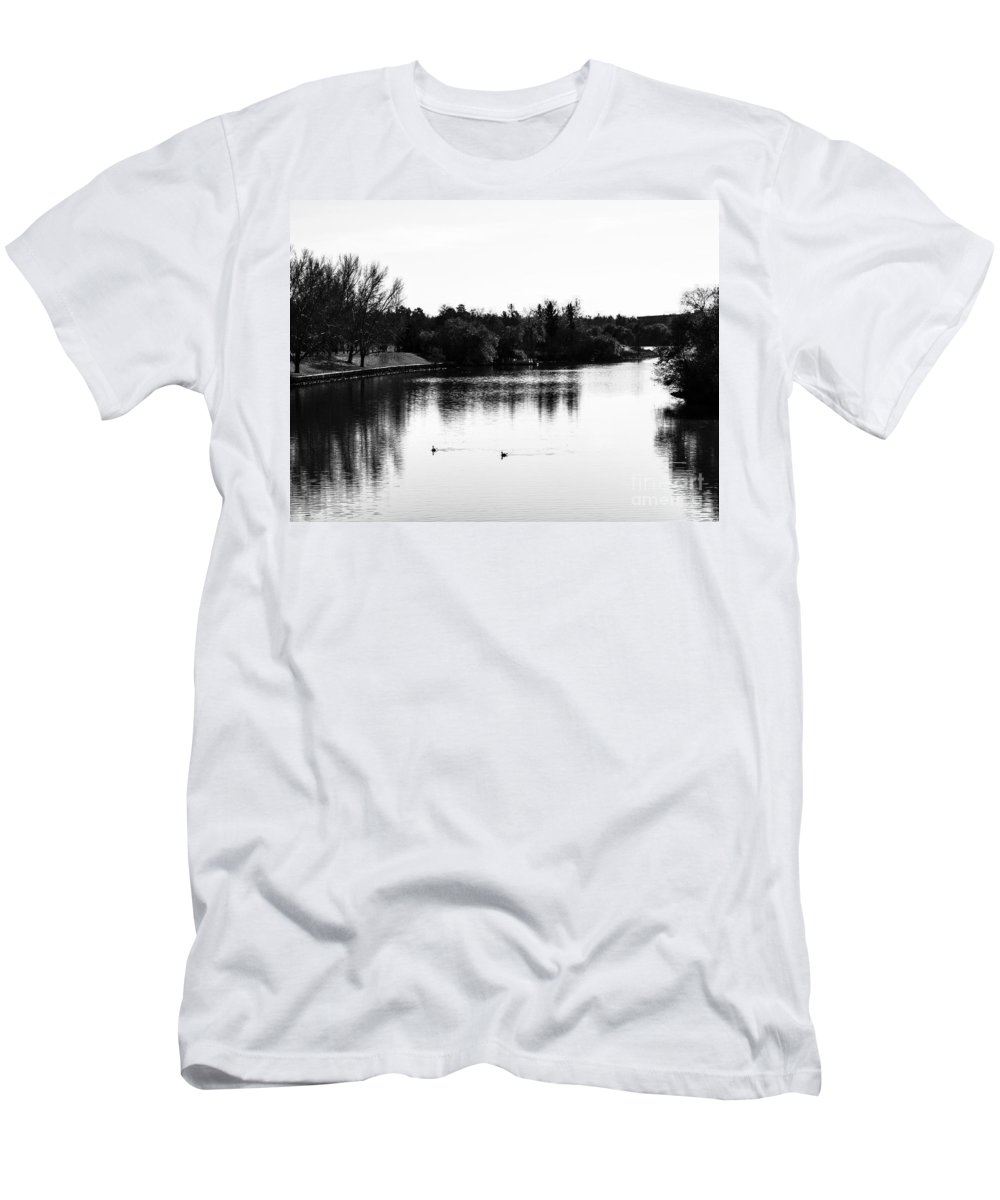 Park Men's T-Shirt (Athletic Fit) featuring the photograph At The Lake-50 by David Fabian
