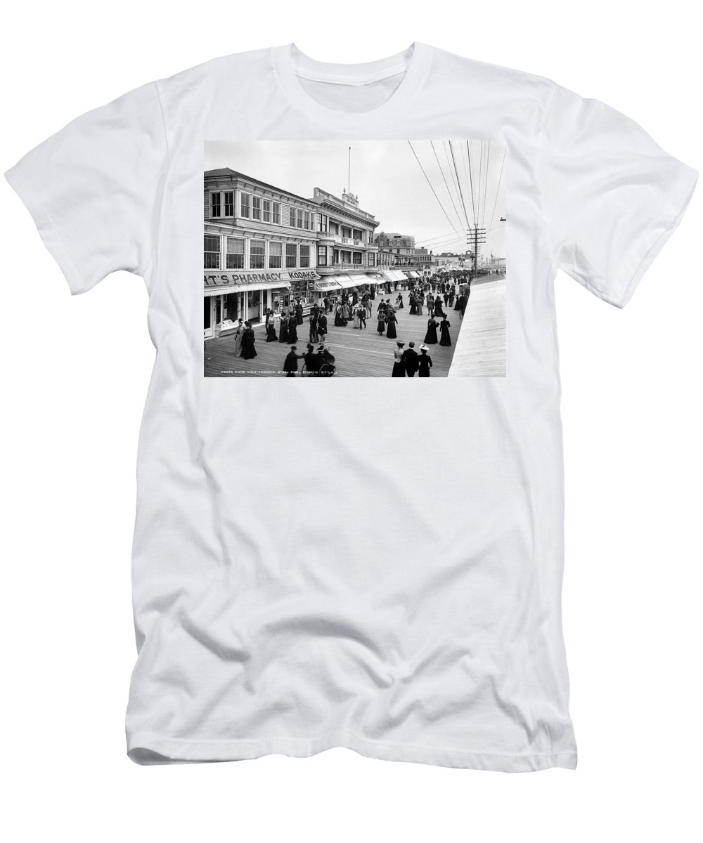 1890 Men's T-Shirt (Athletic Fit) featuring the photograph Atlantic City Boardwalk by Granger