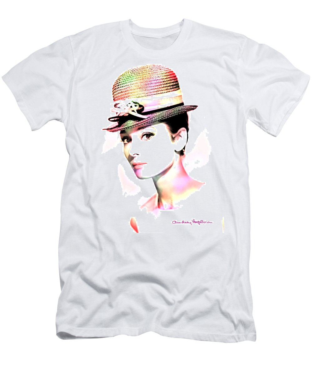 Hepburn Men's T-Shirt (Athletic Fit) featuring the photograph Audrey Hepburn 6 by Andrew Fare