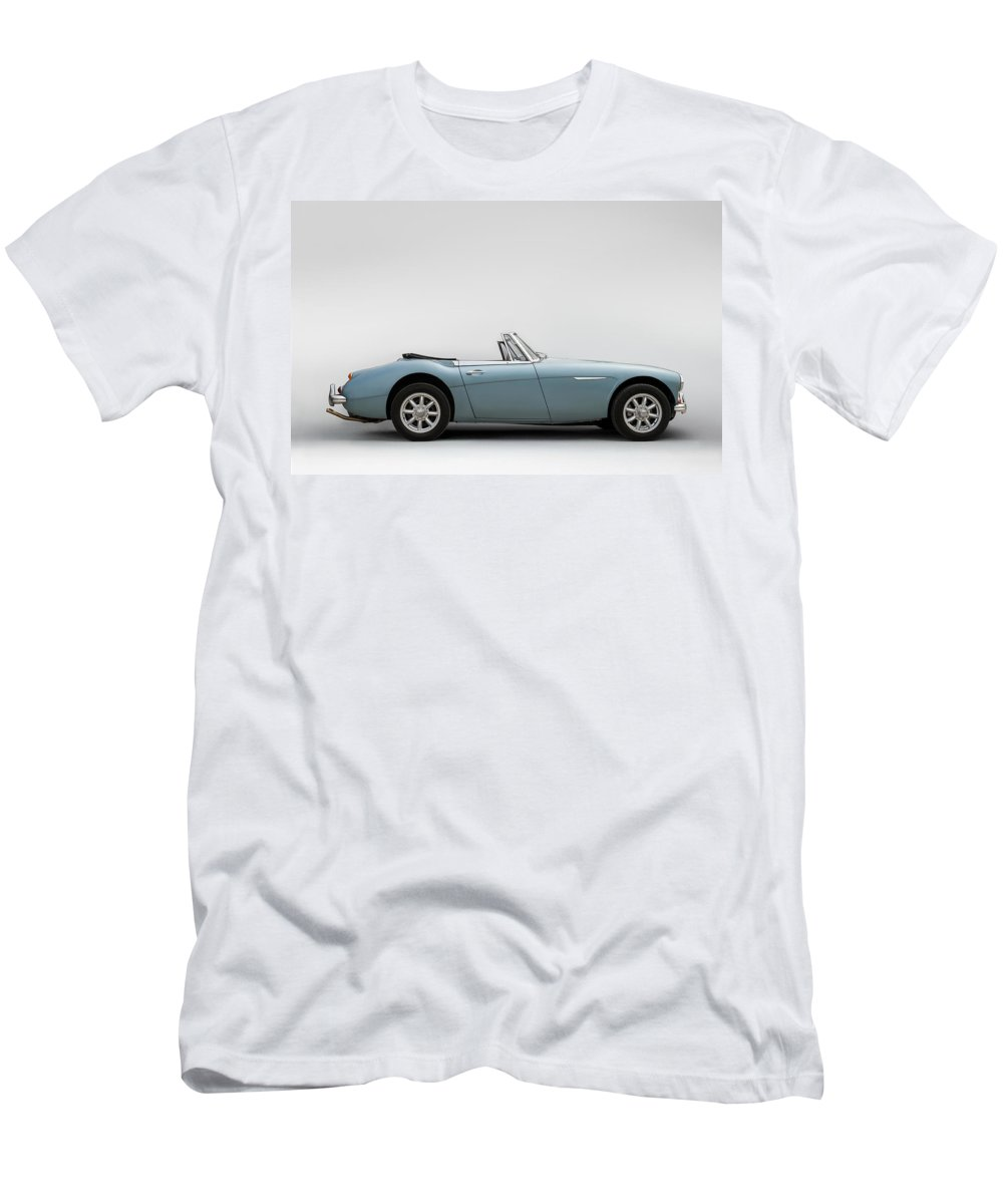 Car Men's T-Shirt (Athletic Fit) featuring the digital art Austin Healey 3000 Mkiii by Douglas Pittman