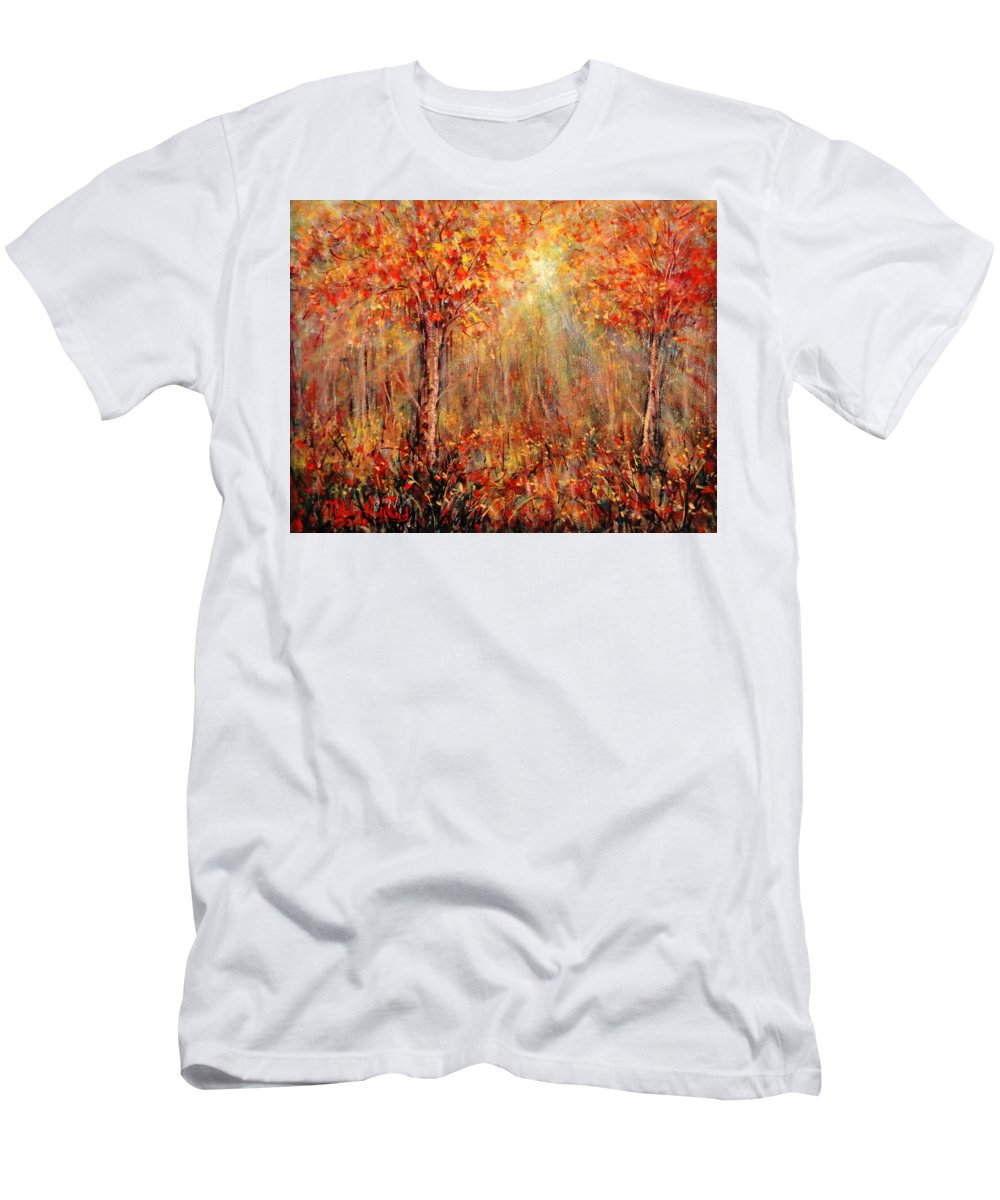 Landscape T-Shirt featuring the painting Autumn by Natalie Holland