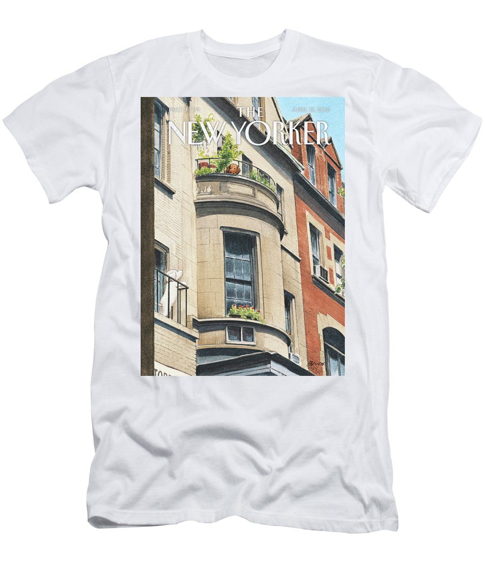 Dog T-Shirt featuring the painting Balcony Scene by Harry Bliss
