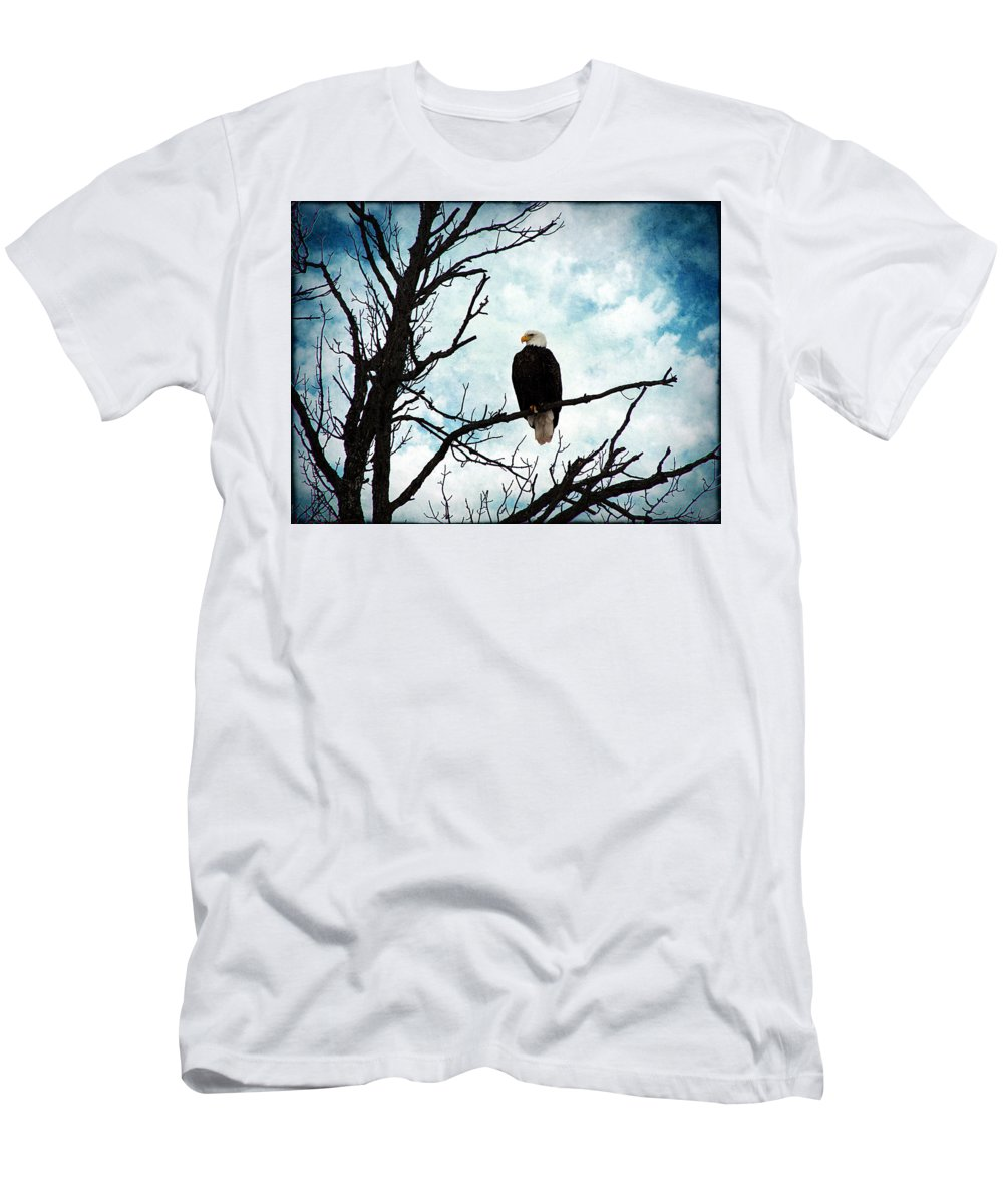 Bald Eagle Men's T-Shirt (Athletic Fit) featuring the photograph Bald Eagle by Cassie Peters