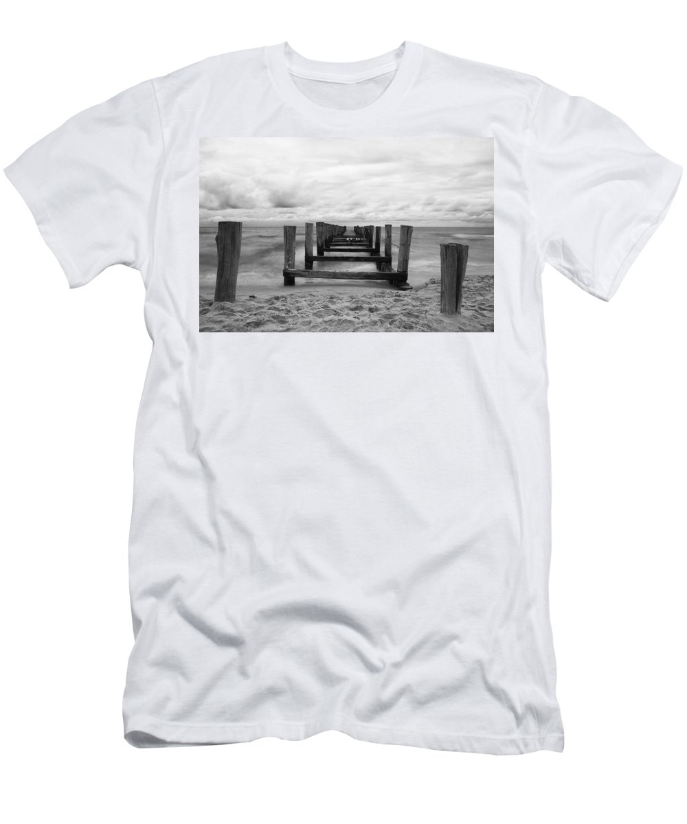 Ostsee Men's T-Shirt (Athletic Fit) featuring the pyrography Baltic Sea by Steffen Gierok