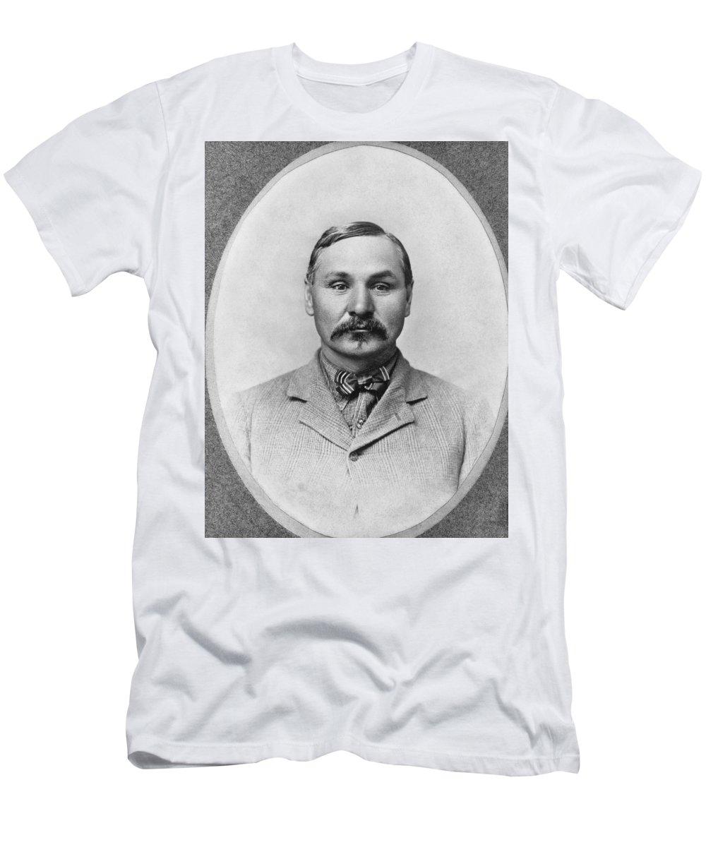1 Person Men's T-Shirt (Athletic Fit) featuring the photograph Baptiste little Bat Garnier by Underwood Archives